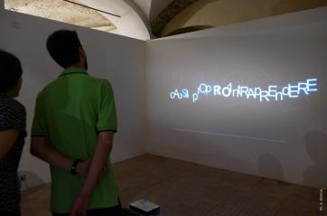 Zaleuco's CAPTCHA, video installation